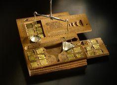 Odendal,Cologne,scale box,money,weight,coin,antique,silver,bronze,scagliola,pietra dura,rococo,neoclassical,baroque,globe,armillary,sphere,scales
