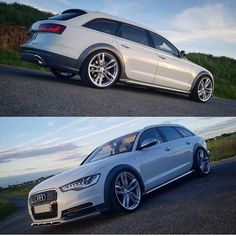 No photo description available. Vw Wagon, Audi Wagon, Audi A6 Allroad, Audi A6 Avant, Audi Rs, Black Edition, Custom Cars, Touring, Cool Cars
