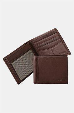 Men's Fossil 'Ingram' Traveler Wallet - Brown