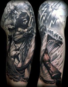 30 Poseidon Tattoo Designs For Men