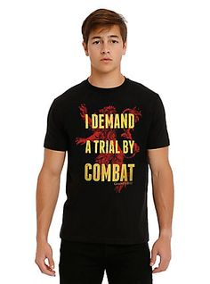 Game Of Thrones Trial By Combat T-Shirt, BLACK