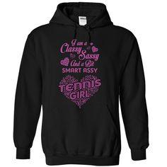 Smart assy Tennis girl T-Shirts, Hoodies. SHOPPING NOW ==► https://www.sunfrog.com/LifeStyle/Smart-assy-Tennis-girl--1115-9938-Black-Hoodie.html?id=41382