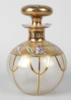 Vintage Moser glass perfume bottle