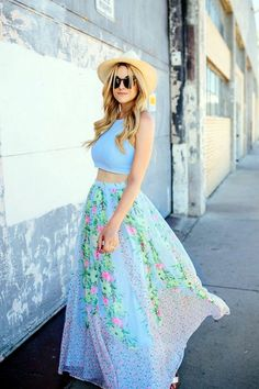 Crop top with maxi skirt outfits to try 2017. Related PostsThe Most fashion trend this season for teens10 Styles of Crop Top Inspired OutfitsOutfit ideas with maxi skirts in SummerMaxi Skirts and Long Dresses EditionCheckered Pencil Skirt with Crop TopLatest and Chic Top and Print SkirtEdit Related Posts Related
