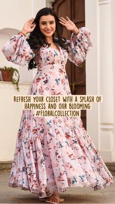 Designer Anarkali Dresses, Designer Party Wear Dresses, Kurti Designs Party Wear, Long Dress Design, Dress Neck Designs, Stylish Dress Designs, Indian Gowns Dresses, Indian Fashion Dresses, Indian Designer Outfits