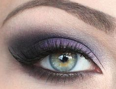 "plum copper smokey eye | purple smokey by cutright.lesliec. This is a little ""cooler"" than the last image I pinned, and I think I look better in warmer tones, but I like the way the darker shadow at the outer corners adds depth."