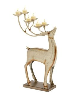 Metal Deer Candle Holder