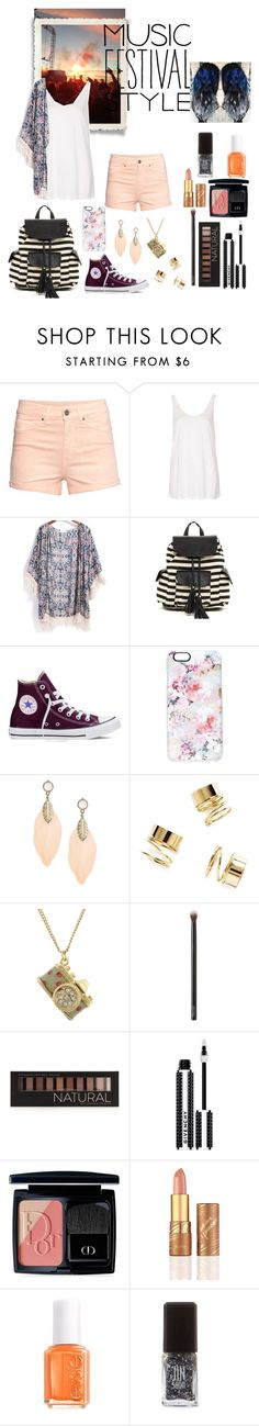 """""""Music Festival"""" by dawndreader ❤ liked on Polyvore featuring Mode, H&M, Topshop, Poverty Flats, Converse, Casetify, Capelli New York, Forever 21, Givenchy und Christian Dior"""
