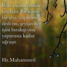 şey i yapmam deme Good Sentences, Allah Islam, Sufi, Hadith, Beautiful Words, Proverbs, Cool Words, Religion, Sayings