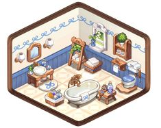 Pixel Animation, Isometric Art, Sims, Landscape Concept, Cute House, Fun At Work, Little Houses, Game Design, Animal Crossing