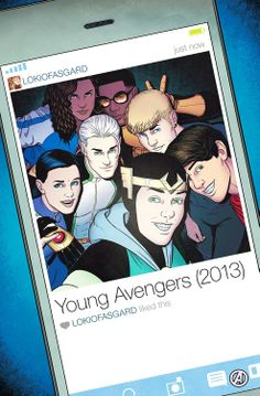 Me encantan de series de comics de Young Avengers.