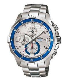 Casio Men's Edifice Marine Stainless Chronograph Watch