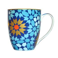 Mosaic Mug Blue  by Images d'Orient