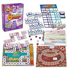 Junior Learning Calculating Games, Set of 6 Different Games, Multicolor Number Puzzles, Number Games, Math Games, Learn Math Online, Games Box, Board Games, Multiplication And Division, Different Games, Game Guide