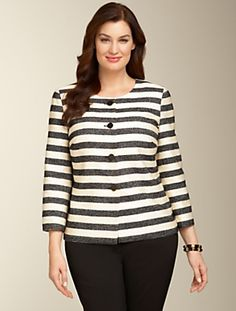 Talbots - Cabana-Stripe Jacket | Jackets and Outerwear | Woman