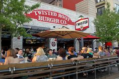 Twisted Root Burger Co. - my favorite (and the BEST) burger ever!!  5 locations in Dallas and 1 in Arlington