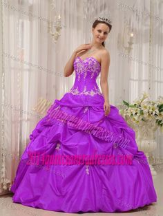 42ff61d2a32 Buy light purple beading sweetheart pick ups appliques sweet 15 dress from  elegant quinceanera dresses collection