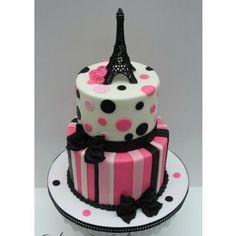 Fondant 201 Paris Themed Cake