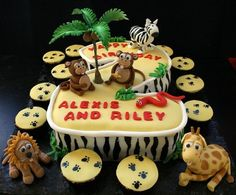 Jungle Theme Birthday Cakes - needs to be changed to a number 1 of course.