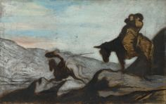 Honoré-Victorin Daumier: 'Don Quixote and Sancho Panza'