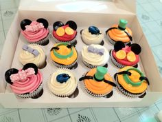 Mickey Mouse club house cupcakes.