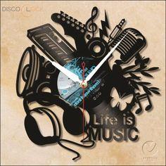 Relógio de Disco de Vinil(DIVERSOS)