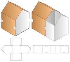 Box packaging die cut template for print Restaurant Flyer, Modern Restaurant, Box Packaging, Packaging Design, Paper Box Template, Banner Template, Flyer Template, Diy And Crafts, Paper Crafts