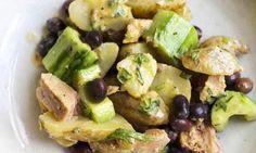 New potato, tuna and cucumber salad