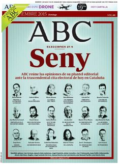La portada de ABC del domingo 27 de septiembre