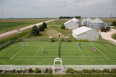 All Iowa Lawn Tennis Club - Mark and Denise Kuhn family farm near Charles City, IA Lawn Tennis, Sport Tennis, Tennis Doubles, Iowa, Tennis Clubs, Tennis Stars, Wimbledon, Ny Times, Travel Photos