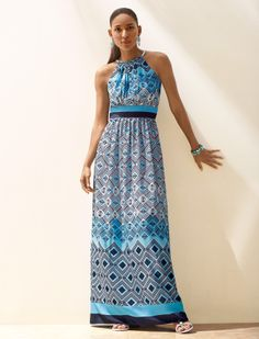 WHBM Cut-In Maxi Dress with Necklace.  #whbm #summer