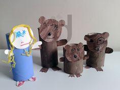 Toilet roll tube goldilocks & the three bears characters. Fun, easy project!
