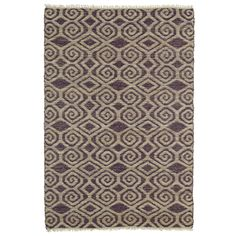 Enjoy the bold color and geometric pattern of this handmade Indian rug in your home. Skillfully hand-crafted from natural jute fiber combined with recycled viscose, this rug is unique and eye-catching.