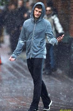 Fifty Shades Of Grey Movie - Jamie Dornan. Well... I love rain. Jamie Dornan in the rain. MOM PLEASE