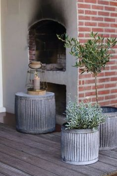 Light & Living Blumentopf S / 3 max Freesia zinkgrau 40 x - Kiona Gibson Garden Inspiration, Garden Ideas, Yard, Exterior, Flowers, Plants, Home Decor, Balcony, Decorations