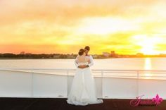 destin fla weddings alyson and josh dec 2015 sunset yacht wedding on Solaris yacht sandestin