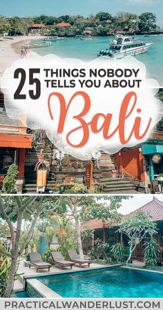 bali travel Whether youre visiting Ubud or backpacking the Gilli islands, there will be some surprises. Heres what nobody tells you about backpacking Bali, Indonesia, one of the most popular travel destinations in Southeast Asia. Voyage Bali, Destination Voyage, Cool Places To Visit, Places To Travel, Travel Destinations, Bali Travel Guide, Travel Tips, Travel To Bali, Travel Hacks