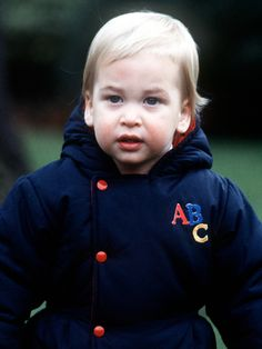 In a photo taken in 1983, the prince had a full head of blond hair as a 1-yr-old.
