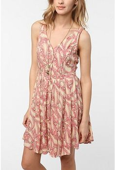 UrbanOutfitters.com > Staring at Stars Button-Down Circle Dress