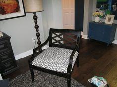 BoringBrownClub Chair Make Over III -- OneFabRoom by TT