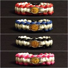 Mighty Morphin Power Rangers Paracord Bracelets by SoHM02 on Etsy, $10.50