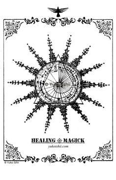 healing magick (the sacred sun) mixed media photo painting  © Yuko Ishii www.yukoishii.com  love to love