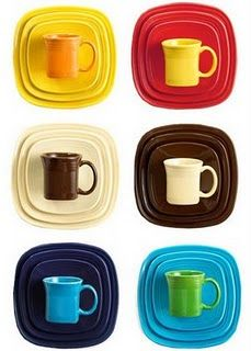 Square Fiestaware - need the bottom row :)