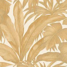 Papier peint Jardin Tropical Doré 96240-4 A.S. Création Versace 2 - BRICOFLOR