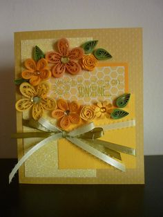 Handmade Greetings Yellow Quilling by FromQuillingWithLove on Etsy