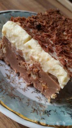 Greek Sweets, Greek Desserts, Cold Desserts, Summer Desserts, Greek Recipes, Desert Recipes, No Bake Desserts, Delicious Desserts, Yummy Food