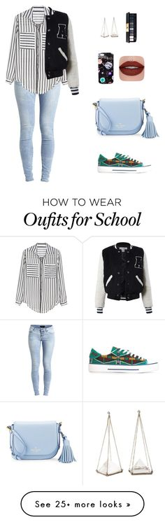 """back to school"" by candynena228 on Polyvore featuring Valentino, Object Collectors Item, Kate Spade, Sans Souci, Unearthen and Nikki Strange"