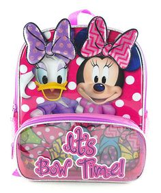 Another great find on #zulily! Minnie & Daisy 'Bow Time!' Backpack #zulilyfinds