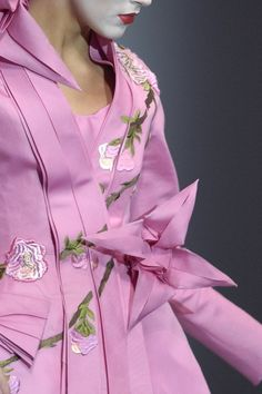 Christian Dior Haute Couture Spring 2007  Exquisite collection inspired by japanese art of kimono.