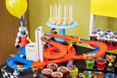 Side of a Dessert Table from a Hot Wheels + Car Birthday Party via Kara's Party Ideas   KarasPartyIdeas.com (11)
